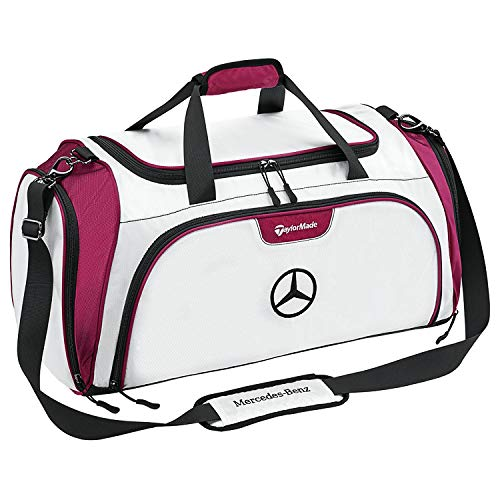 Original Mercedes-Benz TaylorMade Sporttasche Golf weiß/plum Nylon