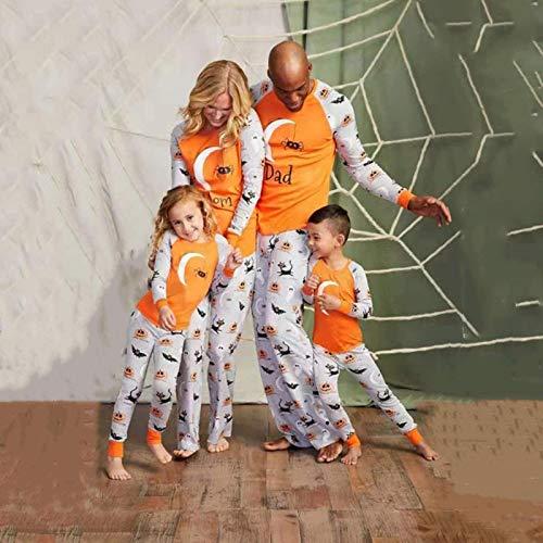 Pijamas Mujer Camisón Conjuntos De Pijamas Familiares De Halloween Algodón Padre Madre Hija Hijo Ropa De Dormir con Estampado Niños Adultos Navidad Ropa De Dormir Dadxxl Multi