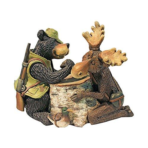 Design Toscano Moose and Black Bear Arm Wrestling Statue