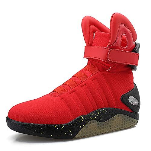TFNYCT Zapatillas de deporte con luz LED intermitente para hombre, color Rojo, talla 39 EU