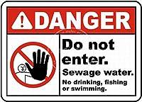 Do Not Enter 金属板ブリキ看板警告サイン注意サイン表示パネル情報サイン金属安全サイン