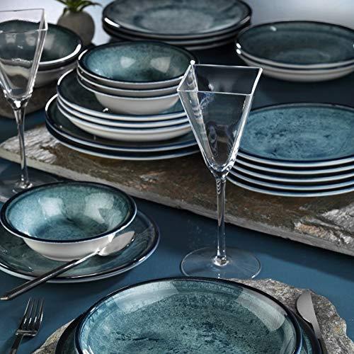 Mitterteich NNTS24Y2890003 PORZELLAN - Vajilla para 6 personas (platos de desayuno, 6 platos llanos, 6 platos hondos y 6 boles)