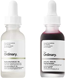 The Ordinary Peeling Solution And Hyaluronic Face Serum! AHA 30% + BHA 2% Peeling Solution! Hyaluronic Acid 2% + B5! Help Fight Visible Blemishes And Improve The Look Of Skin Texture & Radiance!