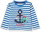 Salt & Pepper Baby-Jungen 03211100 Langarmshirt, Blau (Strong Blue 483), (Herstellergröße: 74)