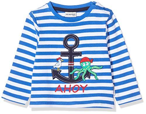 Salt & Pepper Baby-Jungen 03211100 Langarmshirt, Blau (Strong Blue 483), (Herstellergröße: 68)