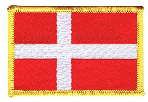 Flaggenfritze Flaggen Aufnäher Dänemark Fahne Patch + gratis Aufkleber