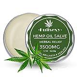 Crema de Cáñamo con 3500 mg, Extracto de Cáñamo para Aliviar Dolor Articulaciones y Músculos.