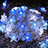 SFgift Starfish 40 LED String Lights, 13.5ft Battery Operated Waterproof Cold White with Remote Control and Timer for Ocean Theme Patio, Porch, Wedding Nursery Bedroom Party Birthday