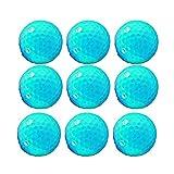 Pratique Ensemble-Cadeau de 10 balles de Golf en Vrac en Caoutchouc synthétique pour Hommes, Femmes débutants, Bleu Durable (Couleur : C1, Taille : Diameter 42.6mm)