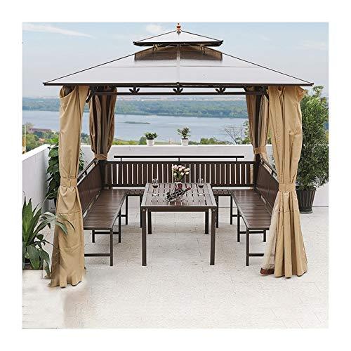 YYDD Villa Garden Furniture, Outdoor Gazebo Lawn Tent, Outdoor Canopies Patio Gazebo Garden Gazebo Double Roof Ventilation Villa Garden Gazebo, Ideal for BBQ, Party, Family Gathering
