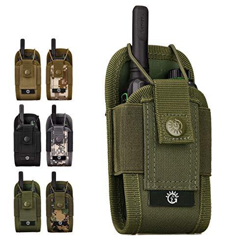 HUKJ Bolso de múltiples Funciones de walkie-Talkie, tácticas de walkie-Talkie Paquete Militares ausente en Color Bolsa de Accesorios Bolsa de Deportes al Aire Libre Adjunto,Army Green