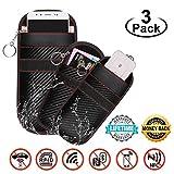 2 stücke keyless go Schutz autoschlüssel + 1 stücke Große Faraday Tasche für Handy, Faraday Bag Fall für autoschlüssel, Signal Blocking Pouch für Autoschlüssel, RFID/NFC/WLAN/GSM/LTE Blocker