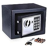 Meykey Caja Fuerte Pequeña Caja Seguridad 230X170X170 mm, N