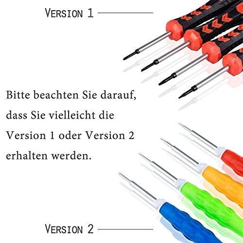 21 in 1 Profi Reparatur Werkzeug Set Tool kit für Handy und Smartphone & Multimedia oder andere Kleingeräte, Inkl. Mikrofasertuch. - 4
