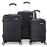 JAXPETY 3 Pcs Luggage Set Coded Lock Travel Set...