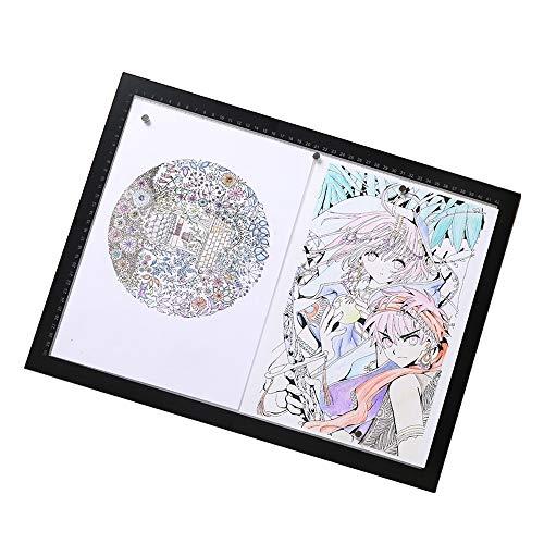 Ultradunne LED Light Box Copy Board tekeninglichtpad, met ladder, doorlopende helderheid, magnetisch, 300 g karton, voor kunstenaars, tekeningen, animatie, schetsen, design