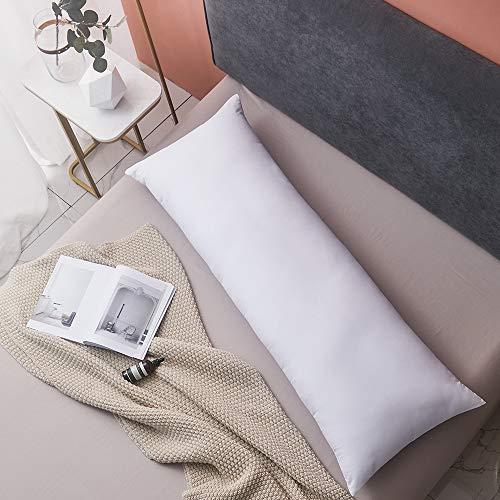 Yalamila Full Body Pillow for Adults-100% Polyester Memory Fiber Fill Body Pilllow Insert for Side Sleeper-Breathable White Long Pillow for Sleeping-20×54 inch
