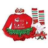 BabyPreg Bebe niña Mi Primera Navidad Vestido de Fiesta de Disfraces de Santa...