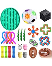 CREPUSCOLO Stresslindrande leksaksset, 24 st figettleksaker för barn och vuxna, lindrar stress och ångest fingerfitto, specialleksaker för födelsedagsfest favoriter