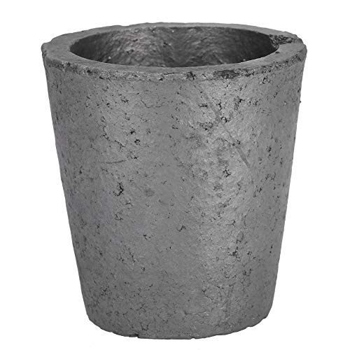 SANON Crogioli di Fusione di Grafite Crogioli per Fonderia Forno a Tazza in Carburo di Silicio 4 kg Resistenza agli Shock Termici Strumento di Fusione Raffinazione di Metalli Preziosi
