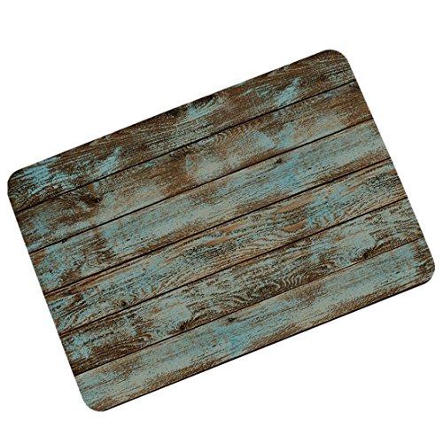 Pinji Funny Doormat Rustic Old Barn Wood Non-Slip Rubber Entrance Mat Floor Mat Rug Indoor/Outdoor/Front Door/Bathroom Mats Personalized 23.6(L) x 15.7(W) inch 06
