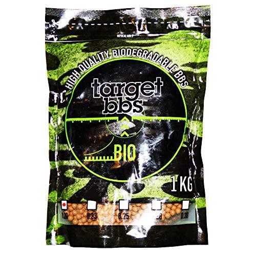 Target Pallini Softair Biodegradabili Marroni da 0,20 Grammi (5000 Pallini), Confezione da 1 Chilogrammo