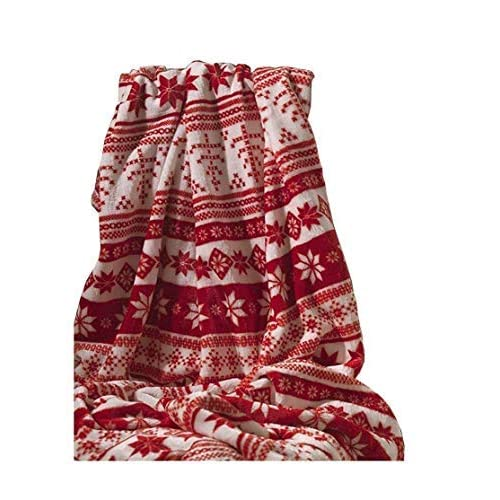 Afghans & Throw Blankets Cheap Price Christmas Festive Fleece Throw Winter Red Sofa Bed Blanket Polyester 120x150cm
