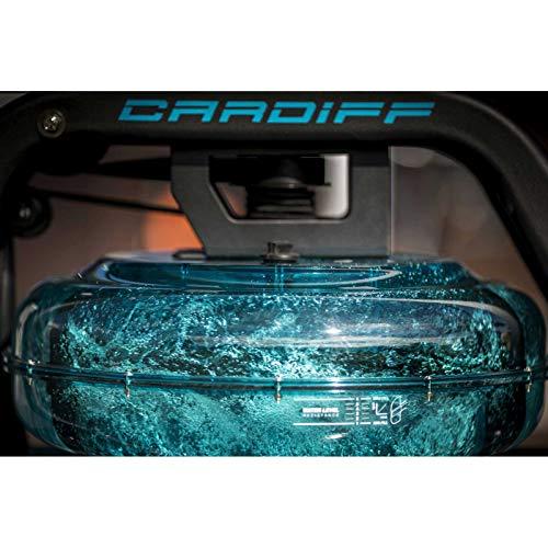 BH Fitness Cardiff R370 – Wasserrudergerät – Rudergerät – 6 Wiederstandsstufen – Einstellbare Pedale – LCD Monitor - 6