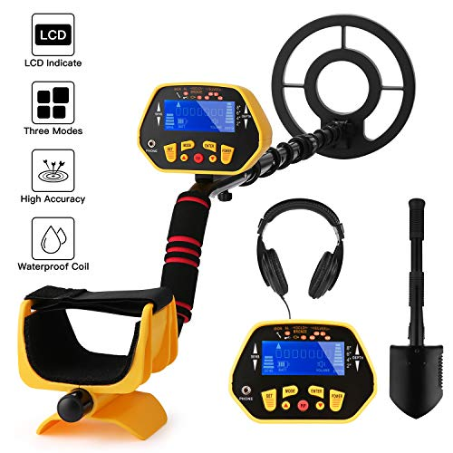 Noeler Metal Detector,High Accuracy Detector with Pinpoint Function,Professional Waterproof Metal Detectors for Adults and Kids (Size 2 (with Headphones))