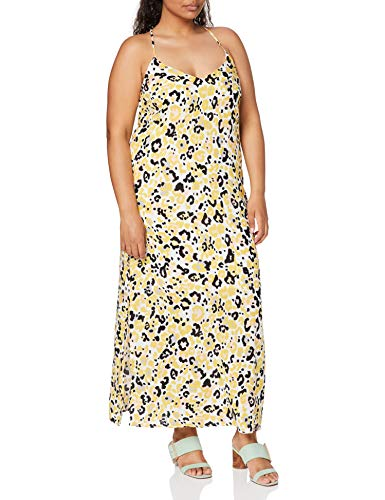 Marca Amazon - find. Vestido Largo de Verano con Estampado Mujer, Multicolor (Animal Print), 38, Label: S