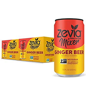 Zevia Ginger Beer 7.5oz  Pack of 12  Zero Calories or Sugar Naturally Sweetened with Stevia Leaf Extract  A Perfect Drink Mixer 7.5 Fl Oz  Pack of 12