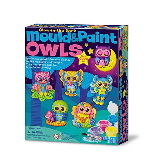 4M - Mould & Paint Glow Owls (004M4654)