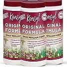 Konsyl - Original Formula - Psyllium Husk Daily Fiber Supplement Powder All-Natural, Soluble, Gluten Free and Sugar Free | 3 Pack 402g