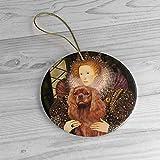 Adorno de árbol de Navidad para árbol de Navidad Qurantine 2020 Ruby Cavalier In Famous Art Queen El...