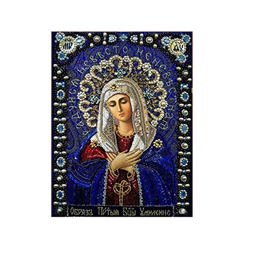 5D DIY Kit de pintura de diamante, Virgen Cristal Rhinestone bordado punto de cruz Adornos Arte Craft Lienzo Decoración de la pared