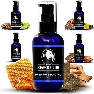 Aceite de Barba Perfumado Premium - Urban Cowboy 100ml | Deja tu Barba Suave, Sin Picor y Sin Escamas, Ayuda a su Crecimiento | Acondicionador Para Hombre Potente 100% Natural Para Barba