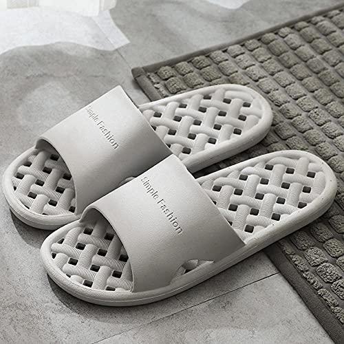 Chanclas Mujer Ducha Playa Zapatillas de baño para baño Interior para Hombres y Mujeres, Chanclas para el Dormitorio del Hotel en casa de Familia, Zapatos deslizantes para Mujer, gris1 EU43-44
