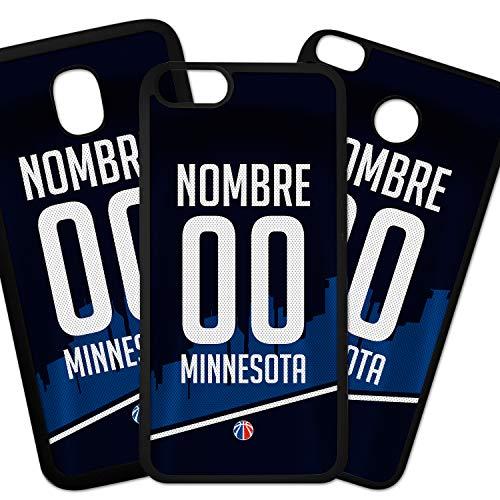 Hoesjes voor mobiele telefoon TPU-hoesjes Compatibel met het telefoonmodel Samsung Galaxy A30s NBA Minnesota Timberwolves-shirt met uw naam en nummer