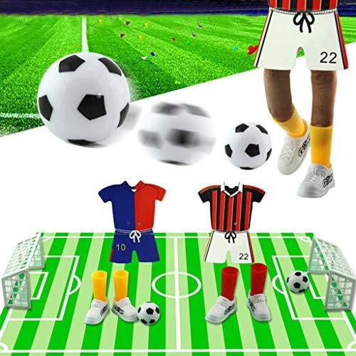 WuLi77 1 Set kreatives Fingerfußball, Jersey, Tischfußball, Fußball, Spielzeug, lustiges Fingerspiel-Set für Kinder