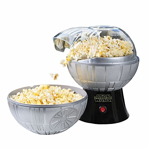 Star Wars Death Star Hot Air Popcorn Maker And One 2 Lb Bag Of Empire Dark Side Popcorn