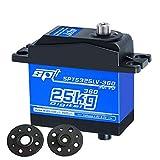 XuBa Servo/5325LV-360 Tornitura Continua/Alta Torque/Digital Doppio Albero Sterzo Gear/Cambio lineare per Robot