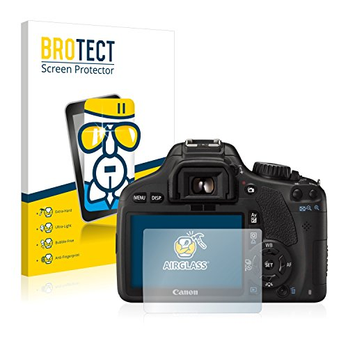 BROTECT Protector Pantalla Cristal Compatible con Canon EOS 550D Protector Pantalla Vidrio Dureza 9H AirGlass