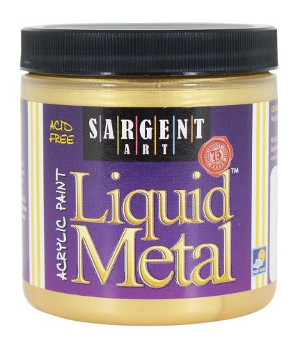 Sargent Art 22-1181 8-Ounce Liquid Metal Acrylic Paint, Gold