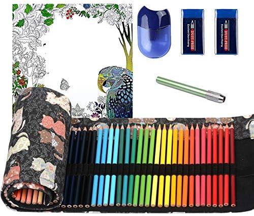 ThEast 48 Colored Pencils Premier Color Pencils for Adult Coloring Book Artist Soft Core Oil product image