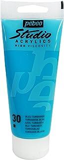 Pébéo 837030 Studio Acrylique Tube Bleu Turquoise 100 ml