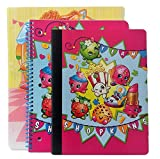 Shopkins Spiral Notebook, Folder & Composition Notebook 3 Piece School Bundle Set (Dark Pink)