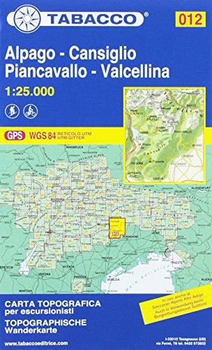 Alpago, Cansiglio, Piancavallo, Valcellina 1:25.000 [Lingua inglese]