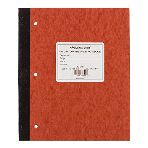 National Laboratory Notebook, 4 x 4 Quad Ruled, Brown, Cover, 11