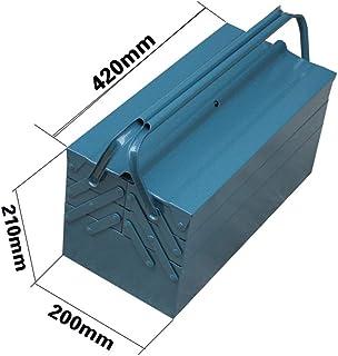 YIN YIN - Caja de almacenamiento de herramientas: caja de almacenamiento de herramientas plegable de tres capas de metal, ...