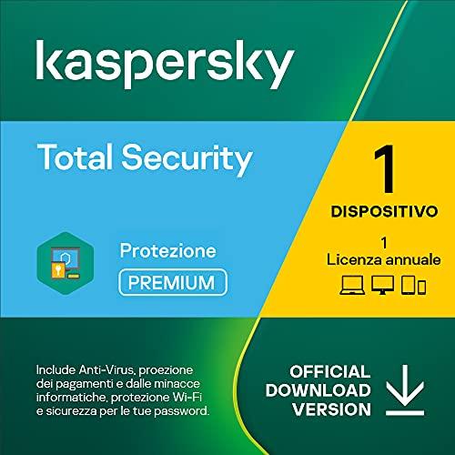 Kaspersky Total Security 2021   1 Dispositivo  1 Anno   PC / Mac / Android   Codice d'attivazione via email